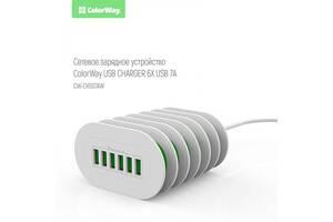 Зарядное устройство ColorWay White (CW-CHS07AW)