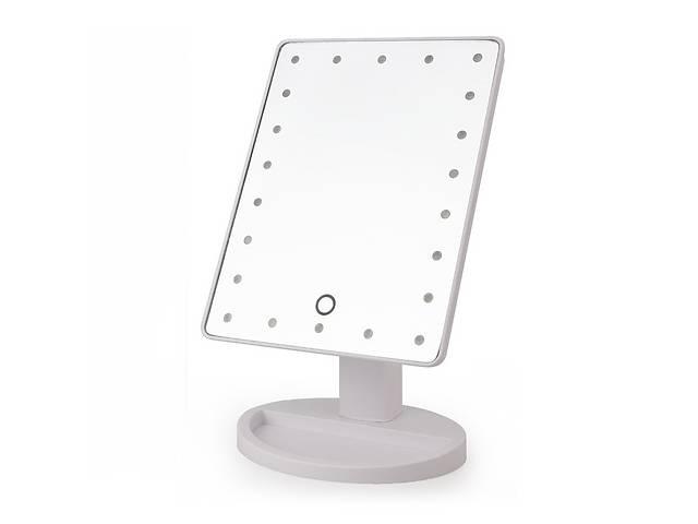 продам Настольное зеркало для макияжа Large Led Mirror Белое (MG03) бу в Киеве