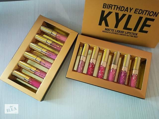 Жидкая помада Kylie Birthday Edition - набор 6в1золото№5