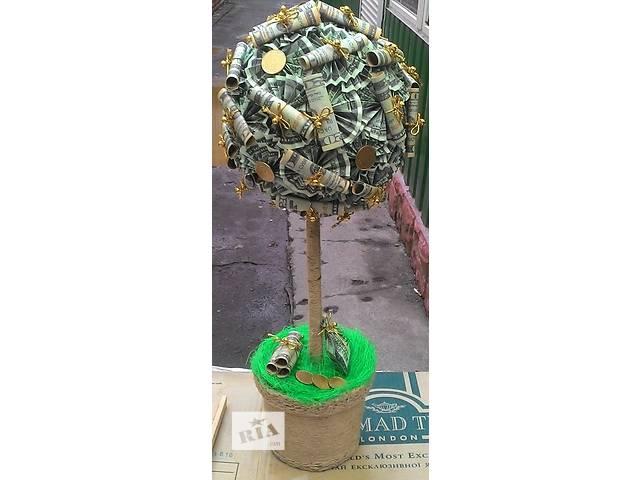 бу ДЕНЕЖНОЕ дерево ручной работы высокое НЕДОРОГО!!! в Виннице