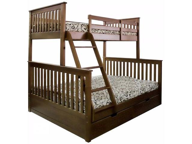 купить бу Детская двухъярусная кровать  «Олигарх» на три места+ акция в Киеве
