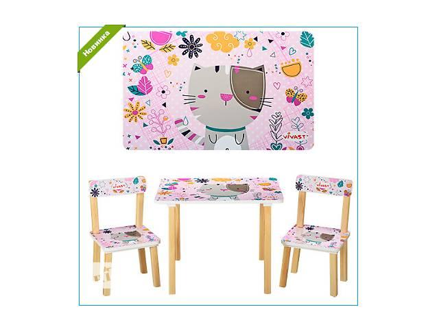 продам Детский деревянный набор столик со стульчиками Vivast 501-14  бу в Ровно