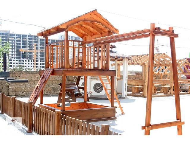 купить бу Детский деревянный игровой домик, площадка и комплекс в Одессе