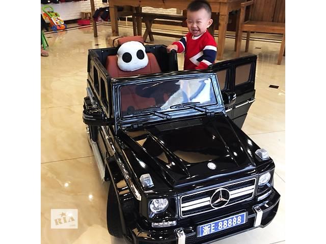 купить бу Детский электромобиль Mercedes Brabus M 2796 EBLRS-2: EVA, 2.4G, 8 км/ч, Кожа - BLACK PAINT в Львове