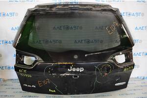 Дверь багажника голая Jeep Cherokee KL 14-18 дорест черный PXR вмятины 68236459AB разборка Алето Авто запчасти Джип Чир
