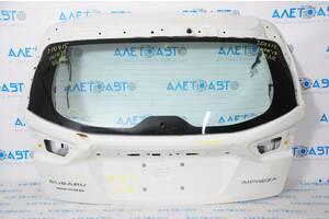 Дверь багажника голая Subaru Impreza 5d 17-19 белый K1X, вмятины 60809FL00A9P разборка Алето Авто запчасти Субару Импре
