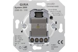Диммер, Светорегулятор Gira - механизм арт.238500 + накладка арт.23160