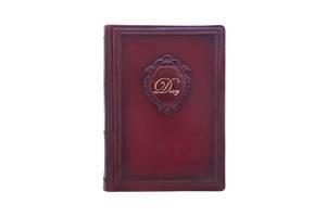 Ежедневник кожаный не датированный Вензель BST 260031 А5 15х21 см. темно-коричневый