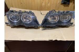 Фари пара ангельськие глазки з омивачами Bmw 3 E46 Xenon Bosch  1998-2001 дорестайл (192) ціна за 2 штуки