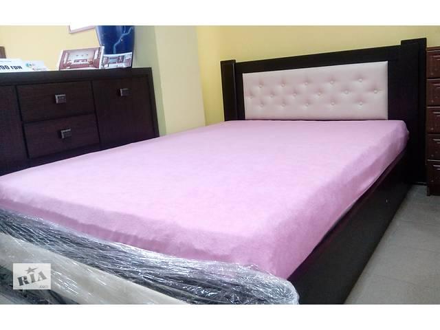 купить бу Дубове ліжко з підйомником і матрасом в Тернополі