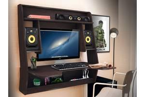Геймерский игровой компьютерный прямой навесной стол ZEUS IGROK MAX ИГРОК МАКС венге / венге