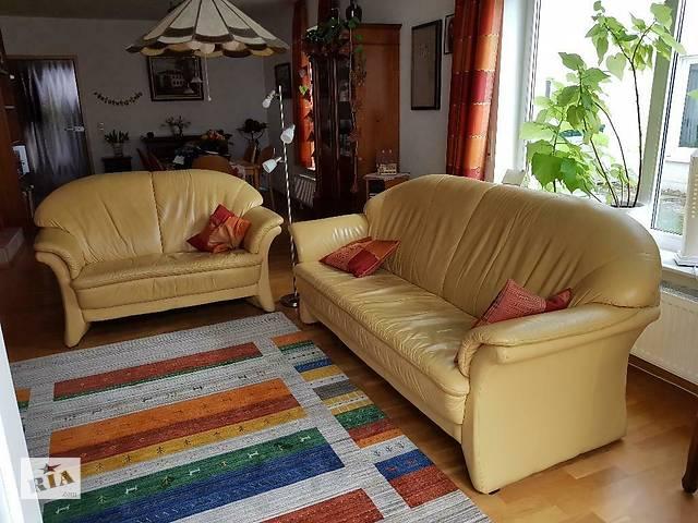бу Комплект кожаной мебели два дивана и кресло мебель из Европы в Києві