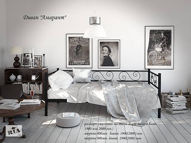 купить бу Металлическая кровать-диван (софа) Самшит (Амарант). Бесплатная доставка Новой Почтой! в Днепре (Днепропетровск)