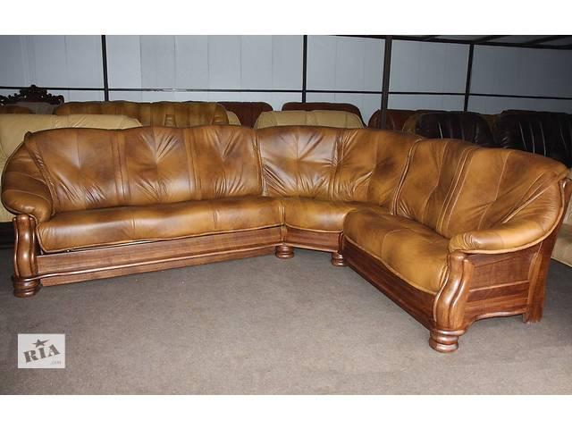 купить бу Новый кожаный угловой диван Cabaro 3.1х2.5 м. Кожаная мебель из Европы, комплект, уголок. в Луцке