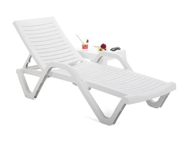 купить бу Садовый и пляжный шезлонг лежак + столик HAVANA BASIC WHITE в Львове