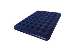 Двухместный надувной велюровый матрас Bestway Pavillo 67004 синий (183 х 203 х 22 см)
