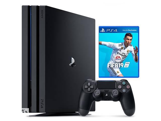 бу Игровая приставка Sony Playstation 4 Pro 1TB  plus  FIFA 19 в Харкові