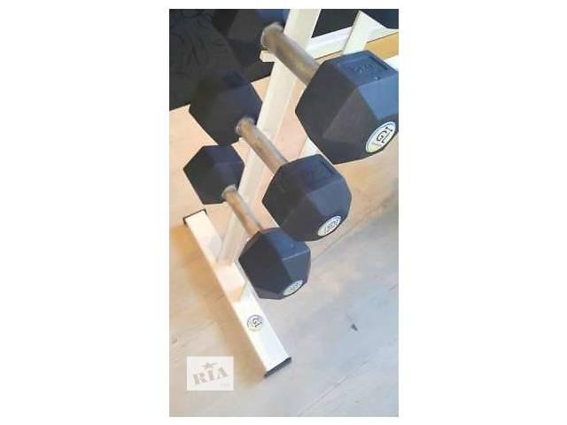 Гантельный ряд от 1 до 10 кг + стойка, сталь