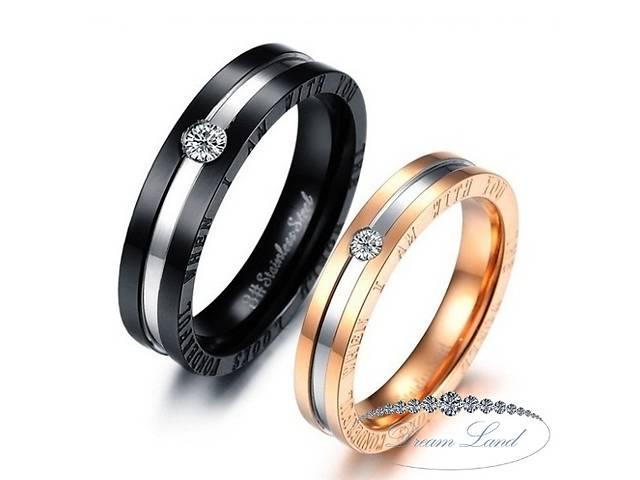 купить бу Парные кольца для влюбленных из нержавеющей медицинской стали. кольцо, подарок, для пары, для двоих, для закоханих в Червонограде