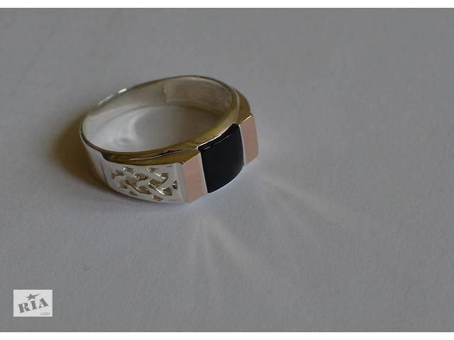 купить бу Серебряная печатка с золотыми вставками в Одесі