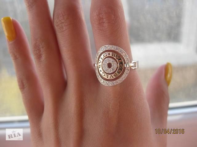 бу Серебряное кольцо Булгари с плзолотой в Запоріжжі