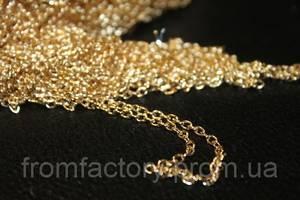 Цепочка металлическая 100см/Ø4мм (золото/серебро):Золотая