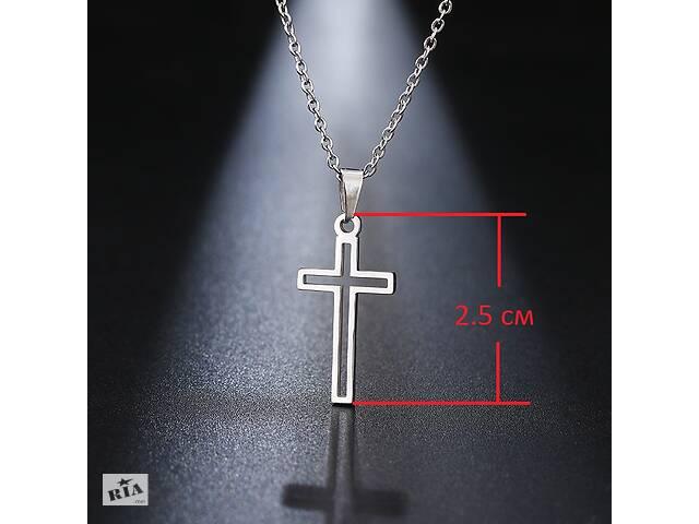 бу Ланцюжок жіноча з хрестиком з медичної сталі в Красилові