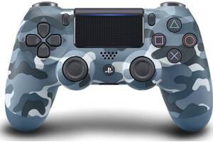 Беспроводной геймпад SONY Dualshock V2 Blue Camouflage для PS4 (9726111)