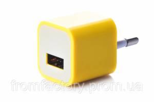 Блок питания 5Вт/1А (USB, разные цвета) 5:Желтый