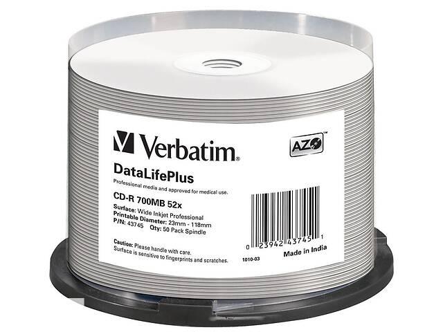 Диск CD Verbatim 700Mb 52x Cake box Printable (43745)- объявление о продаже  в Киеве