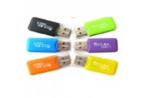 Кардридер универсальный MERLION CRD-1GR TF/Micro SD, USB2.0, Green, OEM Q50 Art. opto-840462526