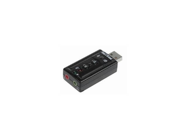 купить бу Контроллер USB-sound card (7.1) 3D sound (Windows 7 ready), OEM Art. opto-840587098 в Киеве
