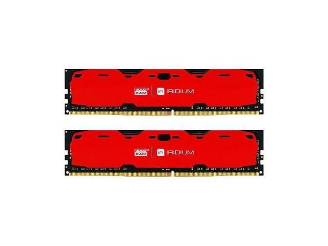 бу Модуль пам'яті для комп'ютера DDR4 16GB (2x8GB) 2400 MHz Iridium Red GOODRAM (IR-R2400D464L15S/16GDC в Дубні (Рівненській обл.)