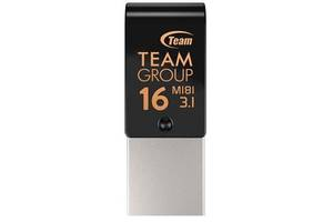 USB флеш накопитель Team 16GB M181 Black USB 3.1/Type-C (TM181316GB01)