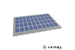 Система креплений на 38 панелей параллельно крыше, алюминий 6005 Т6 и нержавеющая сталь А2, AXIOMA energy