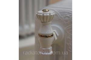 """Вентиль для чугунных батарей в старинном стиле SR Rubineterie colore bianco 1/2"""""""