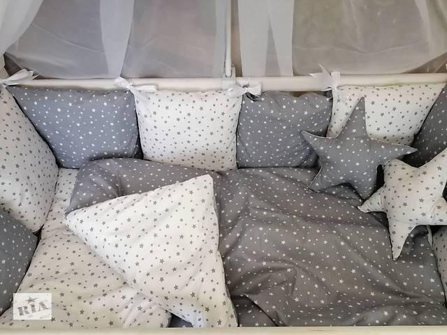 продам Детское постельное бельё в кроватку ТМ Bonna Перфект Серое бу в Одессе