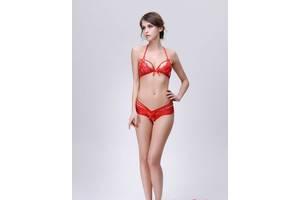 Комплект белья кружевной Edfashion ED0195 S/M красный