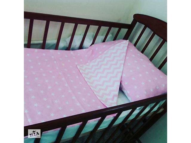 продам Комплект постільної білизни для новонароджених з 100% бавовни бу в Дубні