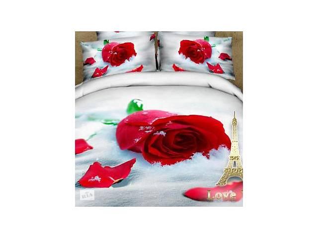 """купить бу Комплект постельного белья Love You Сатин 3D """"Верность"""" Полуторный в Одессе"""