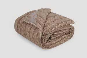 Одеяло IGLEN из овечьей шерсти во фланели Зимнее 200х220 см Коричневый (2002205F)