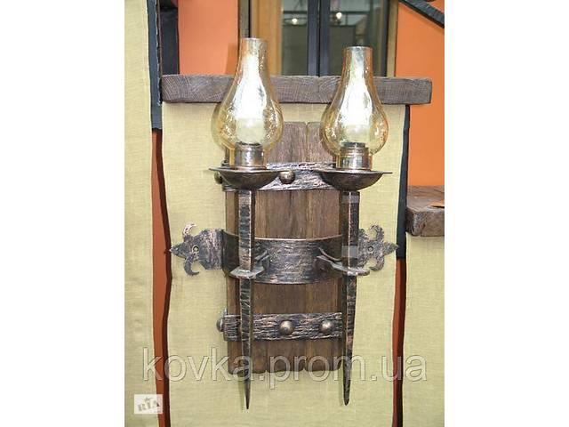 купить бу Двойной кованый светильник в Ладыжине