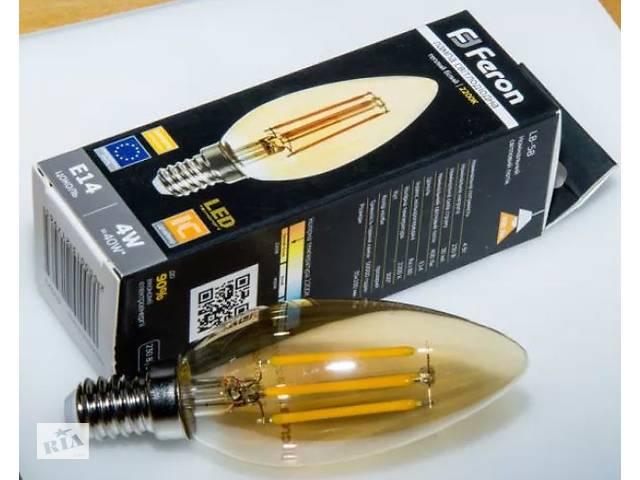 купить бу Светодиодная лампа Feron Filament LB-58, LB-158,LB-59 в Харькове