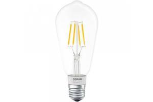 Светодиодная лампа LED Osram SMART LED Е27 5.5-60W 2700K 220V ST64 FILAMENT Bluetooth 4058075091146