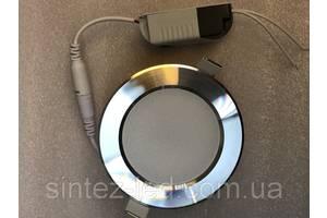 Светодиодная панель SL272030 5W 4000K кругл. хром  Код.59201