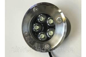 Светодиодный тротуарный линзованный светильник LM987 5W красный, синий, зеленый, желтый Код.59135