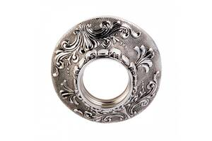 Точечный светильник серебрянный растительный орнамент D6006-SL+BK