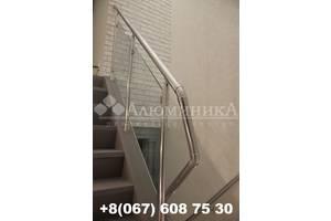 Лестничные перила и ограждения из анодированного алюминия,