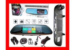 "D35 / K35 Зеркало регистратор, 7"" сенсор, 2 камеры, GPS навигатор,WiFi"