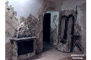 Живопис креативний венеціанськими декоративними штукатурками від майстра з Луцька Олександра Слабецького.